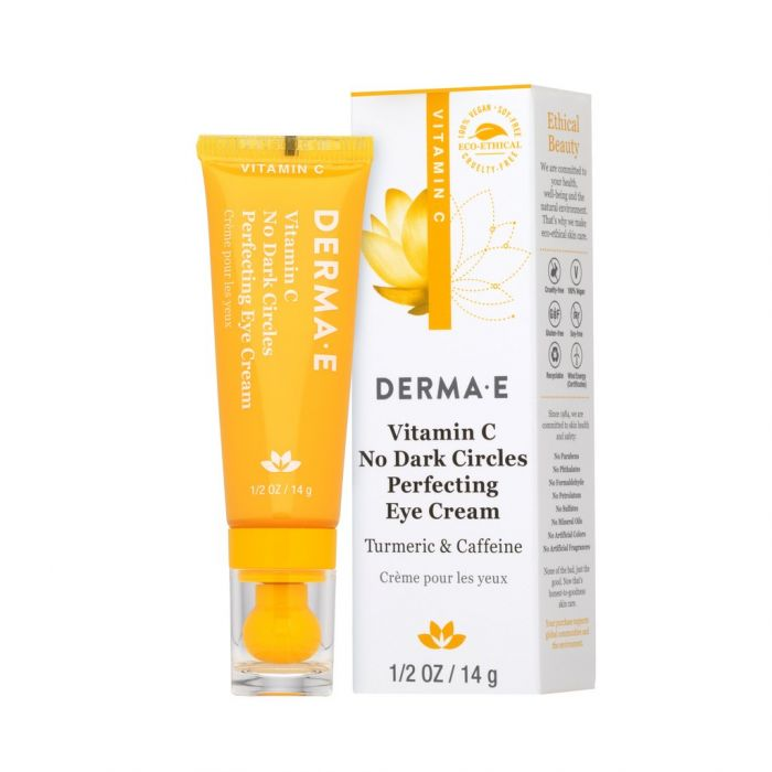Derma E Vitamin C No Dark Circles Perfecting Eye Cream, 0.5 oz.