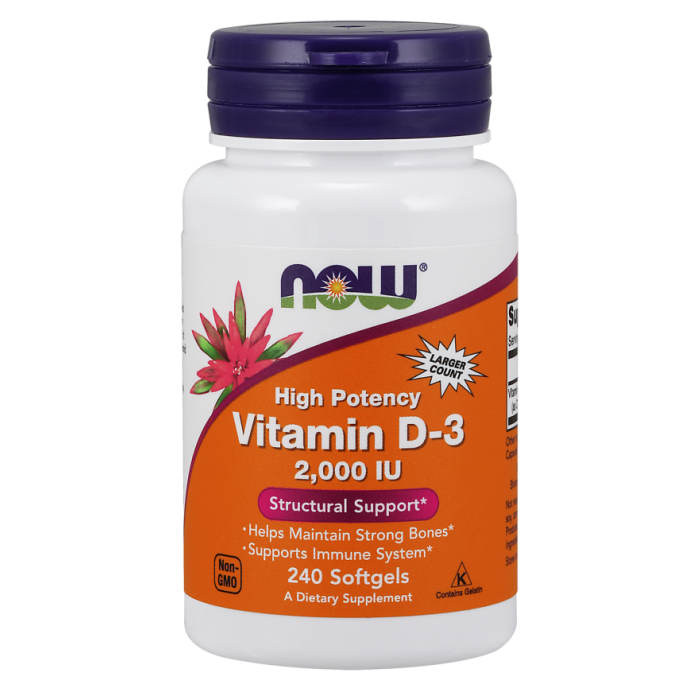 Vitamin D-3 2000 IU - 240 Softgels