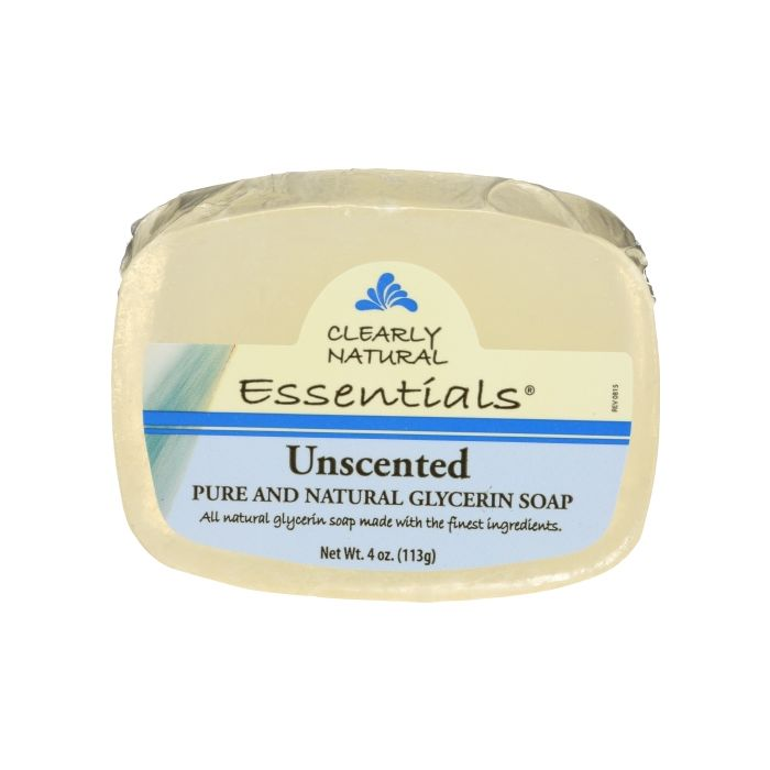 Clearly Natural Unscented Glycerite Bar Soap, 4 oz.
