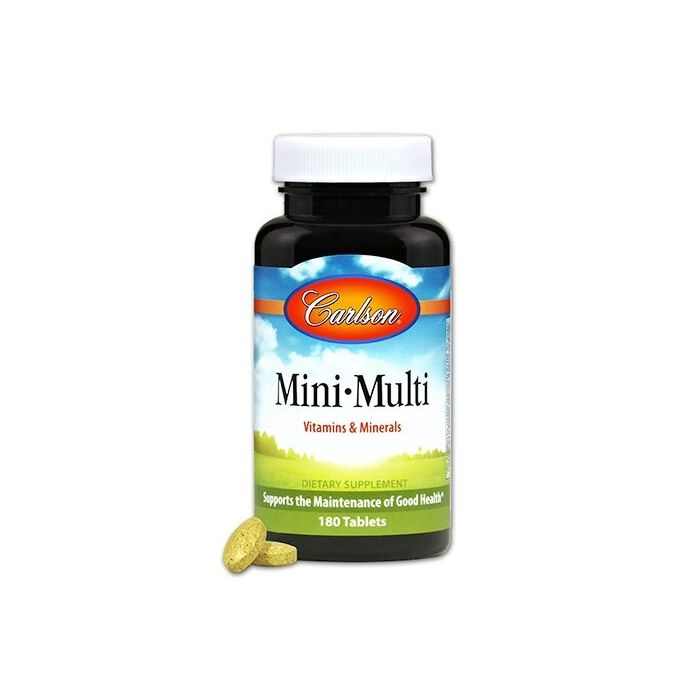 Carlson Mini-Multi Vitamins & Minerals, 180 Tablets