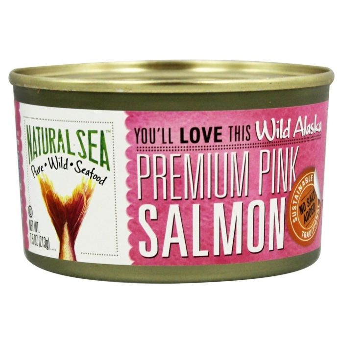 Natural Sea Wild Pink Salmon, Unsalted