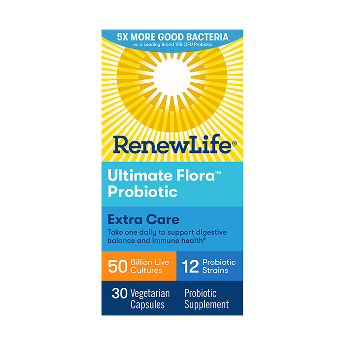 Renew Life Ultimate Flora Extra Care Probiotic, 50 Billion, 60 Capsules