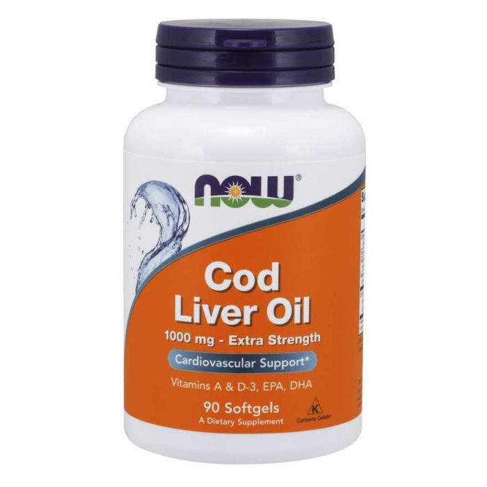 Cod Liver Oil, Extra Strength 1,000 mg - 90 Softgels