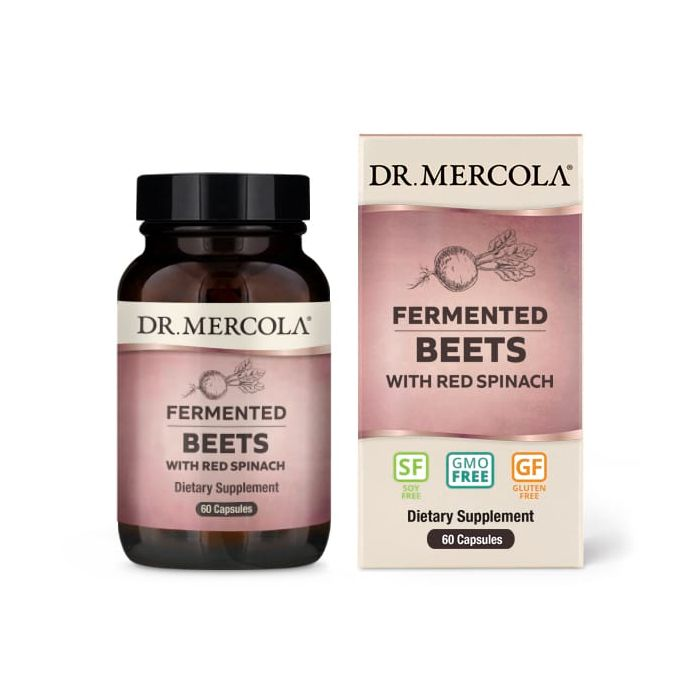 Dr. Mercola Fermented Beets with Red Spinach, 60 Capsules