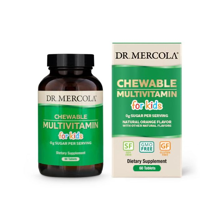 Dr. Mercola Chewable Multivitamin for Kids, 60 Tablets