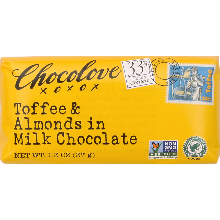 Chocolove Mini Toffee & Almonds in Milk Chocolate, 1.3 oz.