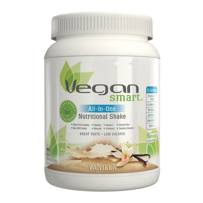 Naturade VeganSmart All-In-One Nutritional Shake, Vanilla Flavor, 22.8 oz.
