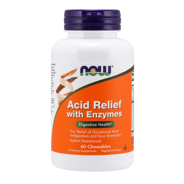 Acid Relief with Enzymes - 60 Chewables