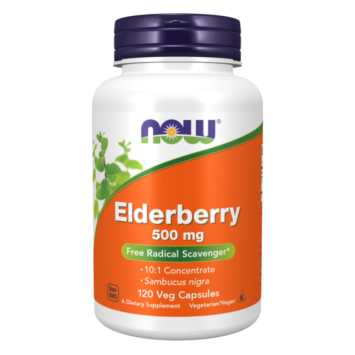 Elderberry 500 mg - 120 Veg Capsules