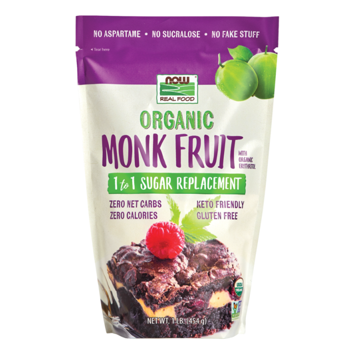 Monk Fruit with Erythritol, Organic Powder - 1 lb.