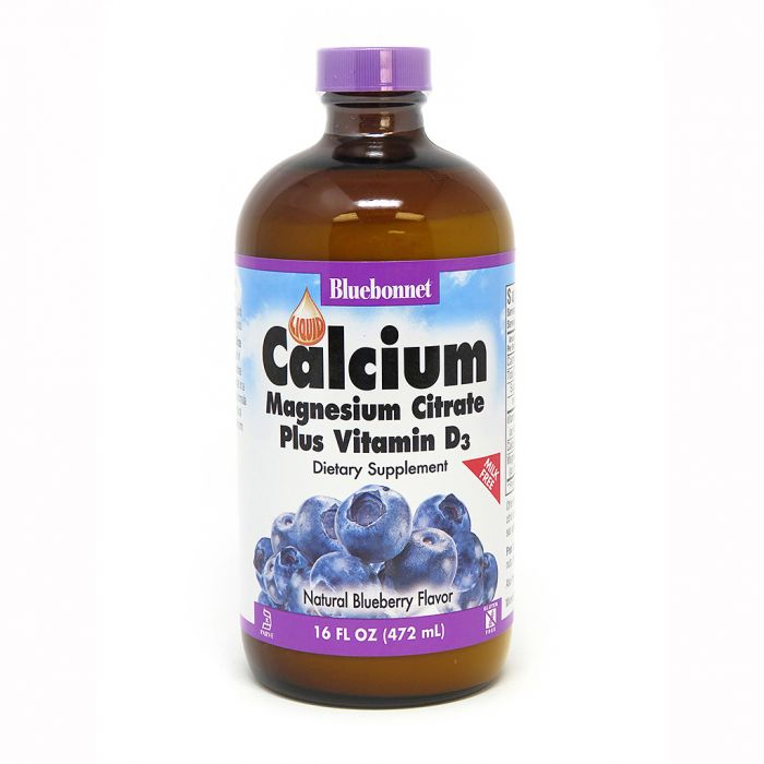 Bluebonnet Liquid Calcium Magnesium Plus D-3, Blueberry, 16 fl. oz.