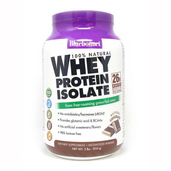 Bluebonnet Whey Protein Isolate Chocolate, 2 lbs.