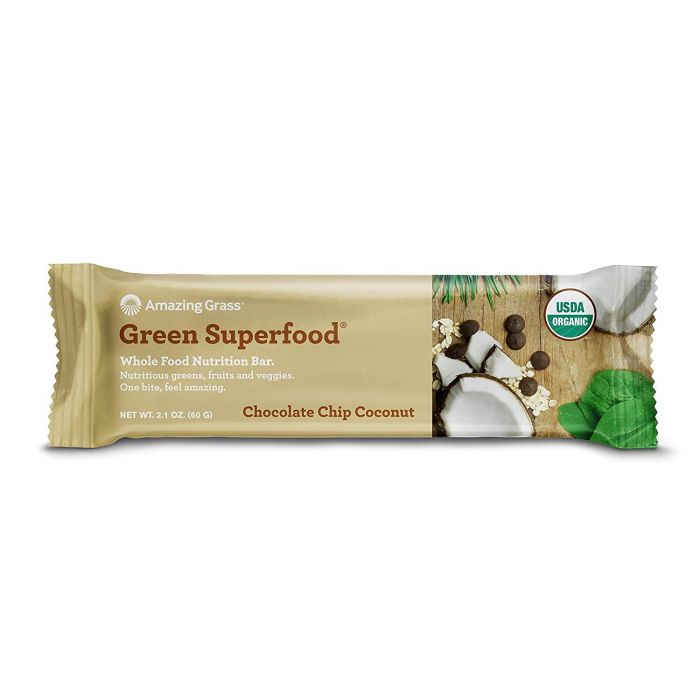 Amazing Grass Green Superfood Chocolate Chip Coconut Whole Food Nutrition Bar