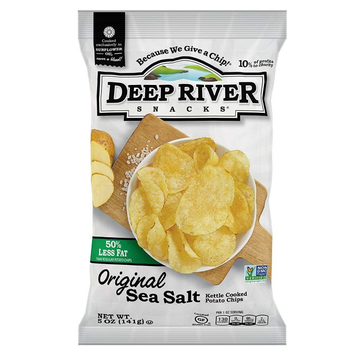 Deep River 50% Reduced Fat Kettle Chips, 5 oz.