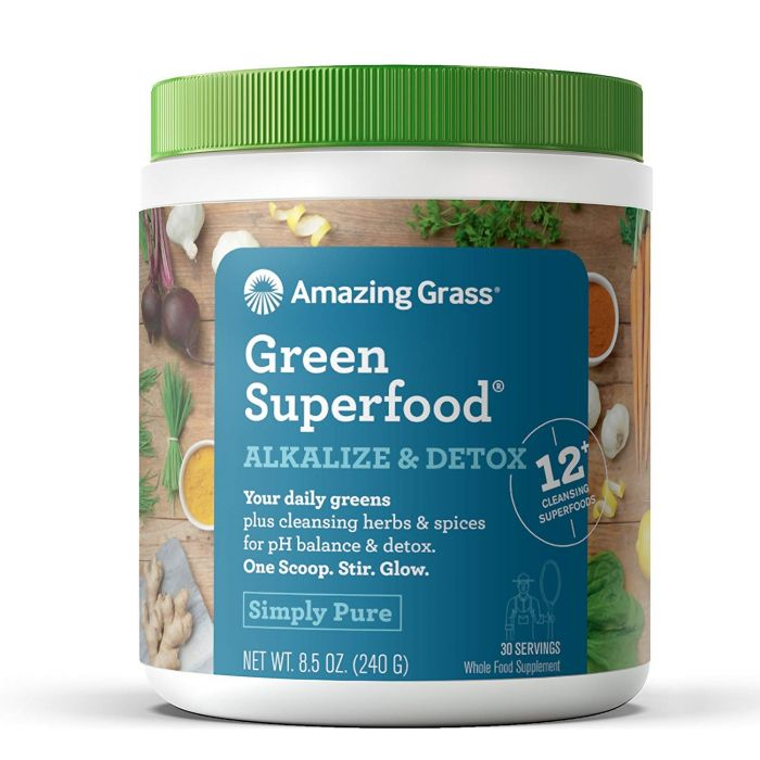 Amazing Grass Alkalize & Detox Simply Pure Green Superfood, 8.5 oz.
