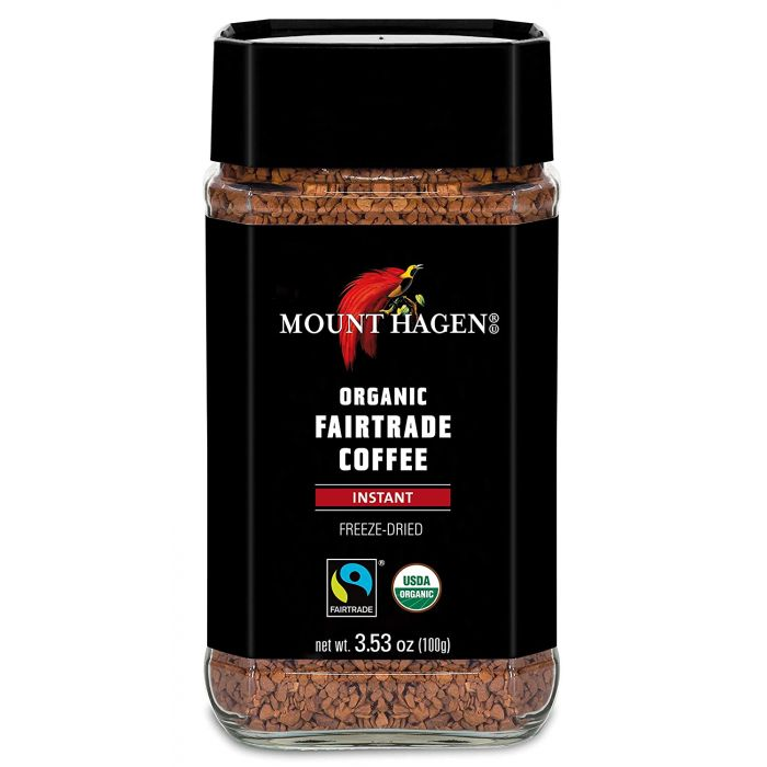 Mount Hagen Organic Instant Freeze Dried Fair Trade Coffee, 3.53 oz.