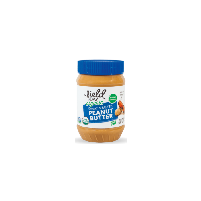Field Day Organic Smooth and Salted Peanut Butter - Main