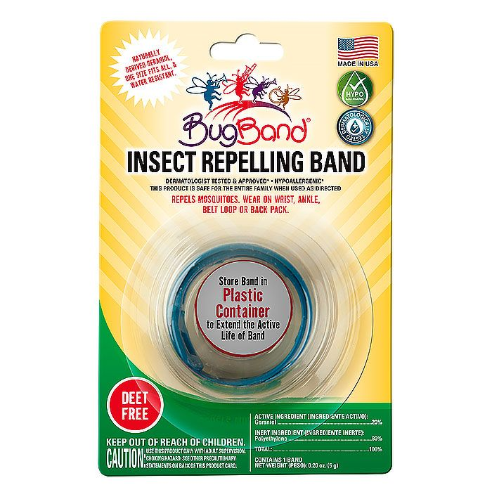 BugBand Insect Repelling Band, Blue