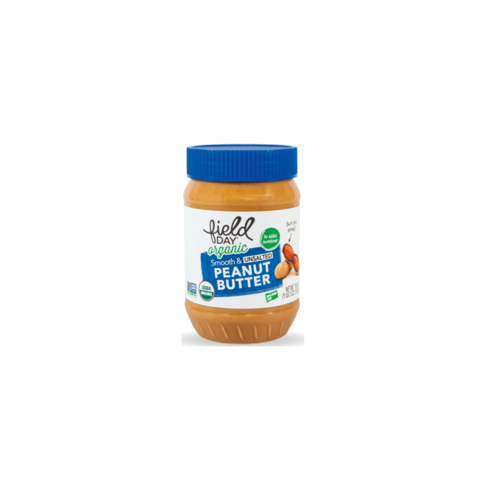 Field Day Organic Smooth and Unsalted Peanut Butter - Main