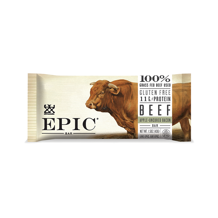 EPIC Beef Apple Uncured Bacon Meat Bar 1.5 oz.