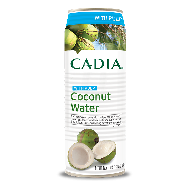 Cadia Coconut Water with Pulp, 17.5 fl. oz.