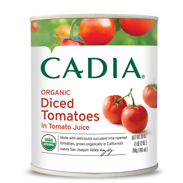 Cadia Organic Diced Tomatoes in Tomato Juice, 28 oz.