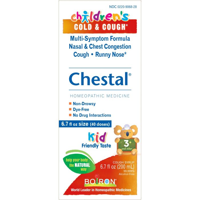 Boiron Homeopathic Children's Chestal, Cold & Cough, 6.7 fl. oz.