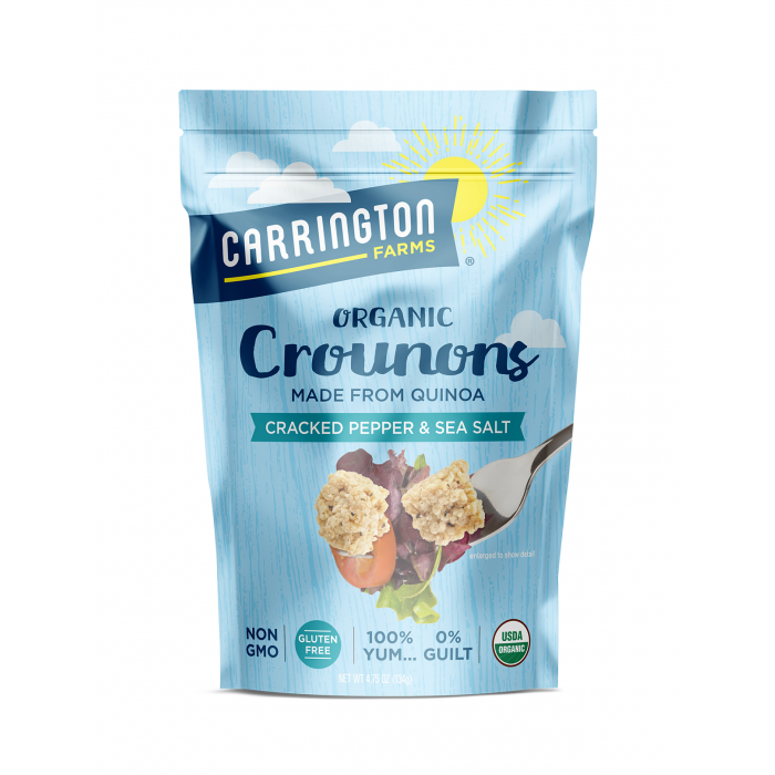 Carrington Farms Organic Crounons, Cracked Pepper & Sea Salt Flavor, 4.75 oz.