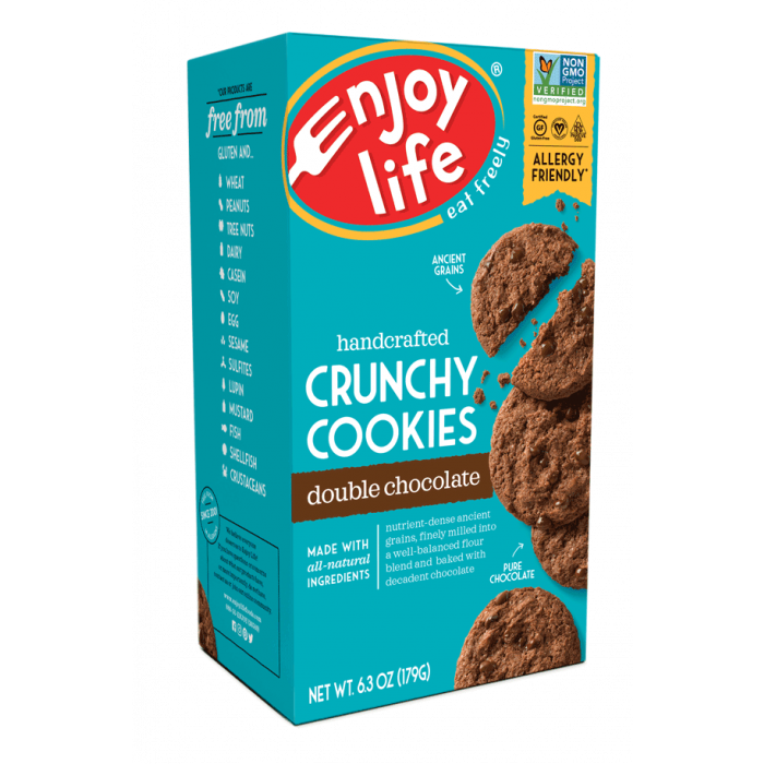 Enjoy Life Crunchy Double Chocolate Chip Cookies, 6.3 oz.