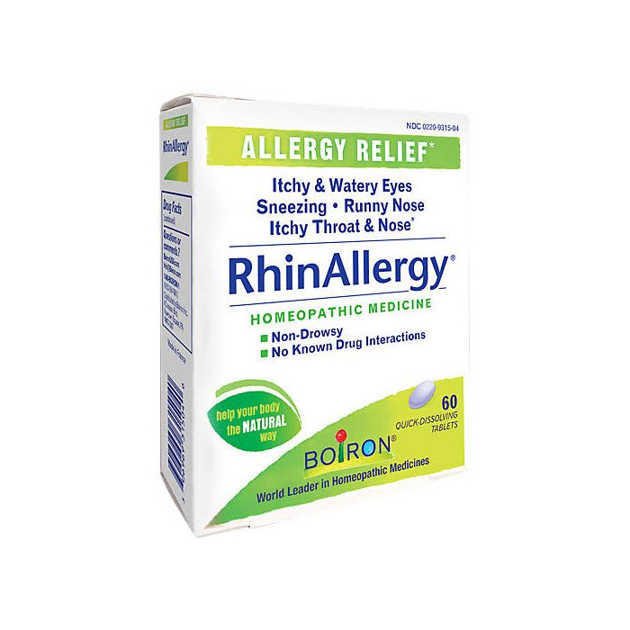 Boiron Homeopathic RhinAllergy®, 60 Tablets