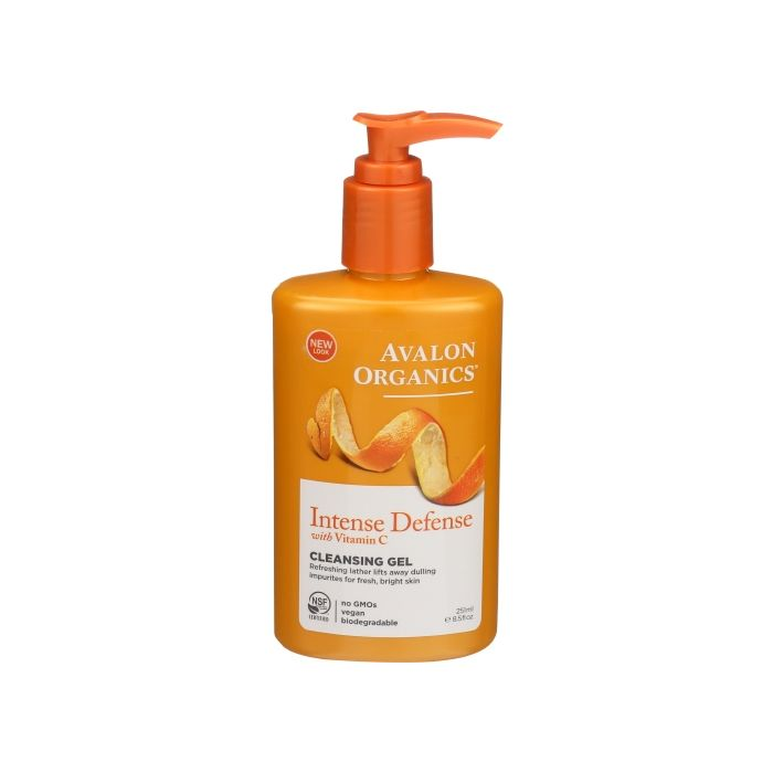 Avalon Organics Intense Defense With Vitamin C Cleansing Gel, 8.5 fl. oz.