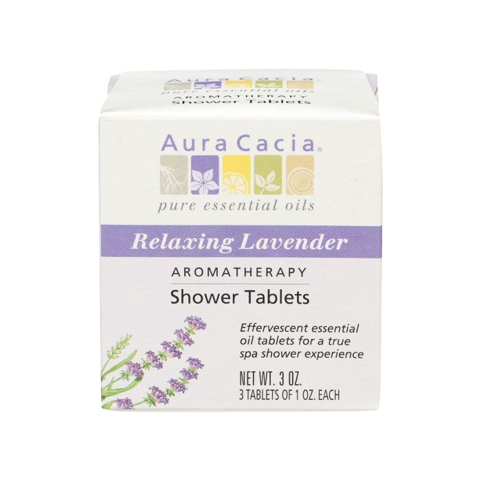 Aura Cacia Relaxing Lavender Aromatherapy Shower Tablets, 3 oz.