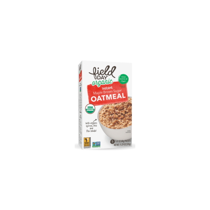 Field Day Instant Maple Brown Sugar Oatmeal - Main