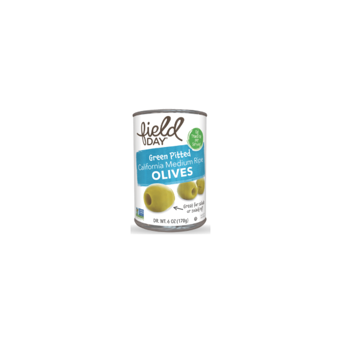 Field Day Green Pitted Olives - Main