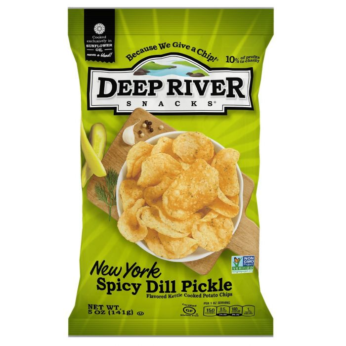 Deep River New York Spicy Dill Pickle Kettle Chips, 5 oz.