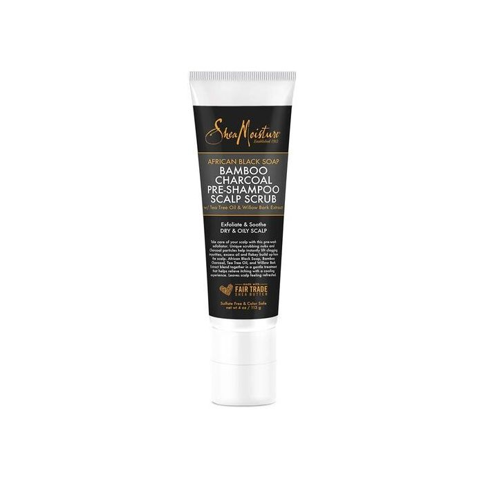 SheaMoisture African Black Soap Bamboo Charcoal Pre-Shampoo Scalp Scrub