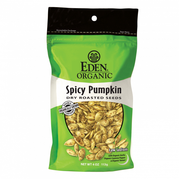 Eden Spicy Pumpkin Seeds, Organic, 4 oz.