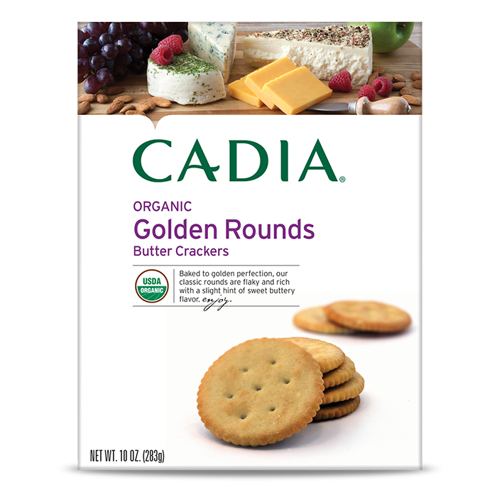 Cadia Organic Golden Rounds Butter Crackers, 10 oz.