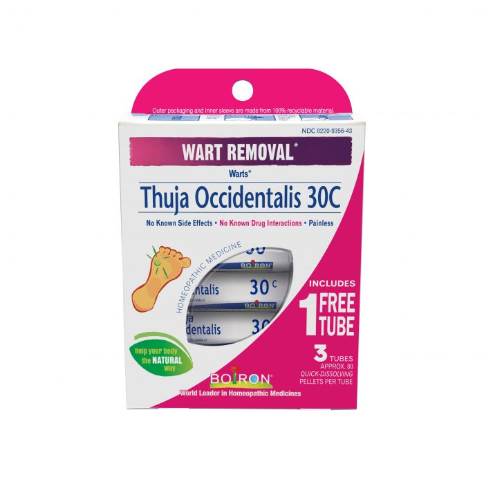 Boiron Homeopathic Thuja Occidentalis 30C, 3-Pack