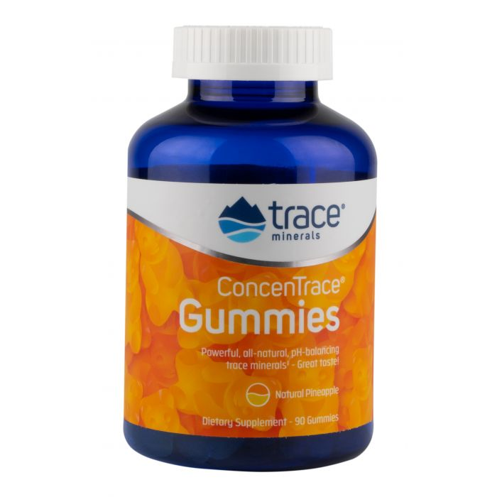 Trace Minerals ConcenTrace Gummies, Pineapple Flavor, 90 Gummies