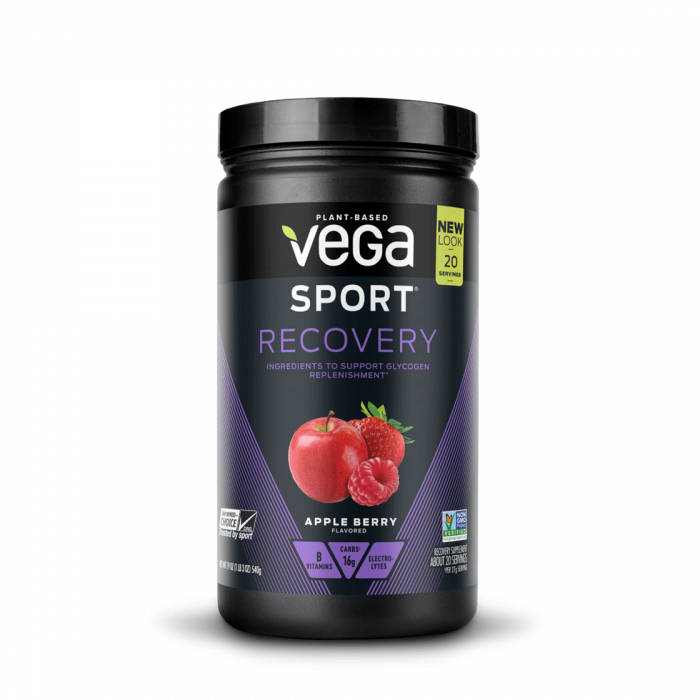 Vega Sport Recovery, Apple Berry Flavor, 19 oz.