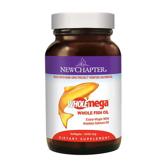 New Chapter Wholemega Whole Fish Oil, 60 Softgels