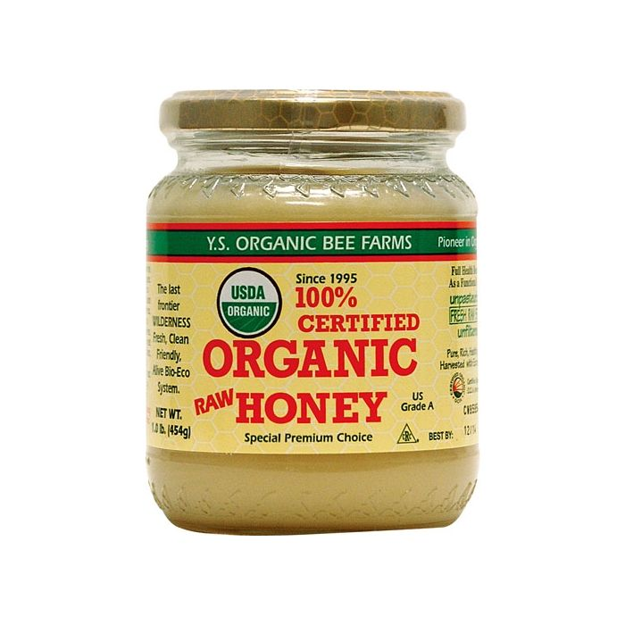 Y.S. Eco Bee Farms Organic Raw Honey, 16 oz.