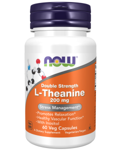 L-Theanine, Double Strength 200 mg - 60 Veg Capsules