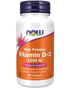 Vitamin D-3 1000 IU - 180 Softgels