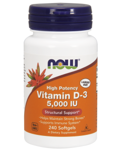 Vitamin D-3 5,000 IU - 240 Softgels