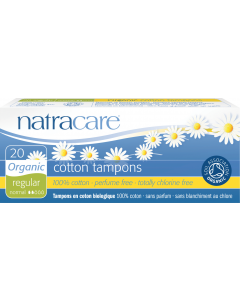 NatraCare Organic Cotton Super Tampons With Applicator, 16 Count