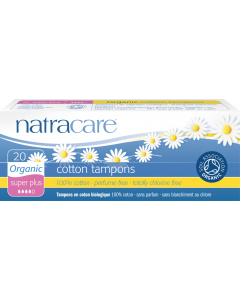 NatraCare Organic Cotton Super Plus Tampons, 20 Count