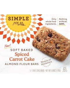 Simple Mills Spiced Carrot Cake Soft Baked Bars