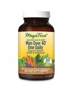 MegaFood Men Over 40 One Daily Multivitamin, 30 Tablets